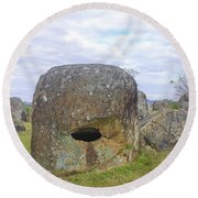 Plain Of Jars Round Beach Towel