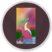 Platypus Duck Round Beach Towel