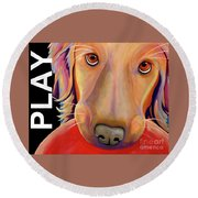 Play More Round Beach Towel