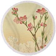 Plum Or Cherry Blossom Round Beach Towel
