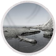 Point Arena Beach California Round Beach Towel