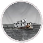 Point Reyes California Shipwreck Round Beach Towel