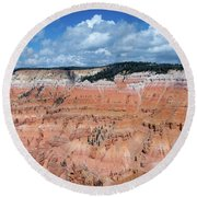 Point Supreme Overlook - Cedar Breaks - Utah  Round Beach Towel