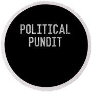Political Pundit Vintage Round Beach Towel