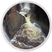 Pool At The Falls  Round Beach Towel
