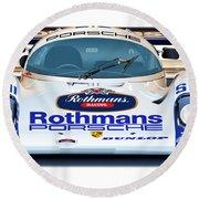 Porsche 962 Al Holbert Racing Round Beach Towel