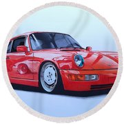 Porsche 964  Round Beach Towel