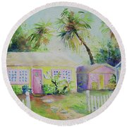 Port A Cabins Round Beach Towel
