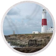 Portland Bill Round Beach Towel