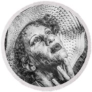 Portrait Of Kate Round Beach Towel