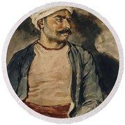 Portrait Of Mustapha Round Beach Towel