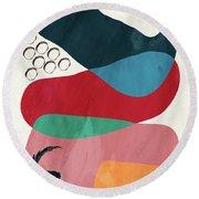 Positive Colors 8 Round Beach Towel