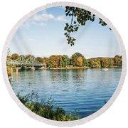 Potsdam - Havel River / Glienicke Bridge Round Beach Towel