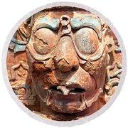 Pre-columbian Eye Glasses, Palenque, Mexico Round Beach Towel