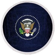 President Seal Eagle Round Beach Towel