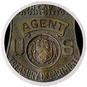 Prohibition Agent Badge Round Beach Towel