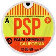 Psp Palm Springs Luggage Tag I Round Beach Towel