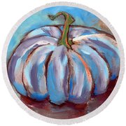 Pumpkin No. 4 Round Beach Towel