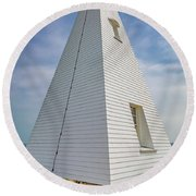 Pyramid Bell Tower Maine Round Beach Towel