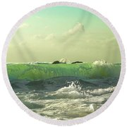 Quiet Before The Storm Round Beach Towel
