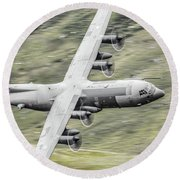 Raf C-130 Hercules 1 Round Beach Towel