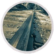 Rail Away  Round Beach Towel