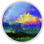 Rainbow Mountain - Breaking The Gridlock Of Hate Number 5 Round Beach Towel