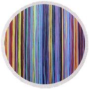 Rainbow Stripes Purple Gold 201912 Round Beach Towel