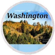 Randle Washington In Fall 02 Round Beach Towel