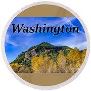 Randle Washington In Fall Round Beach Towel