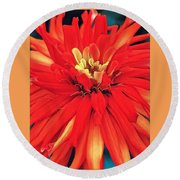 Red Bliss Round Beach Towel