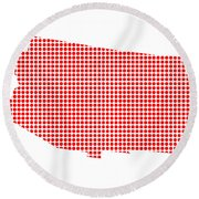 Red Dot Map Of Arizona Round Beach Towel