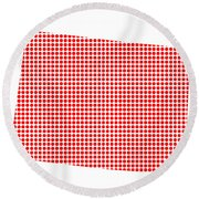 Red Dot Map Of Colorado Round Beach Towel