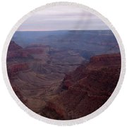 Red Grand Canyon Round Beach Towel