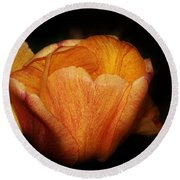 Red Orange Yellow Tulip Round Beach Towel