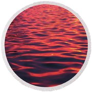 Red Sea Round Beach Towel by James Peterson