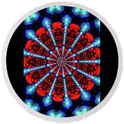 Red Steel Round Beach Towel