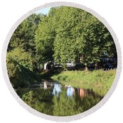 Reflections Of Bridgewater Canal - 1 Round Beach Towel