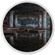 Reflections Of Decay Round Beach Towel