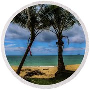 Relax Time Round Beach Towel