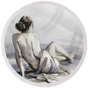 Relaxed Round Beach Towel