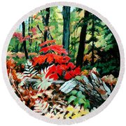 Resilient Maple Round Beach Towel