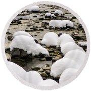 Rhine Winter Round Beach Towel