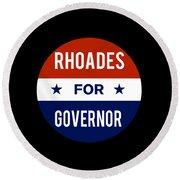 Rhoades For Governor 2018 Round Beach Towel