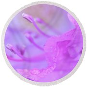 Rhododendron Macro Round Beach Towel