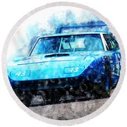 Richard Petty Superbird Round Beach Towel