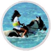 Ride The Dream Round Beach Towel