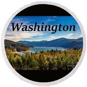Riffe Lake, Washington Round Beach Towel