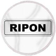 Ripon City Nameplate Round Beach Towel