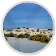 Rippled Sand Dunes In White Sands National Monument, New Mexico - Newm500 00114 Round Beach Towel